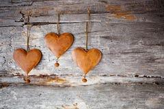 Αγροτικές καρδιές στοκ εικόνες