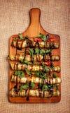 Αγροτικές τηγανισμένες γεμισμένες κολοκύθια και μελιτζάνα Στοκ φωτογραφία με δικαίωμα ελεύθερης χρήσης