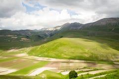 Αγροτική άποψη σε Castelluccio Norcia στοκ φωτογραφία