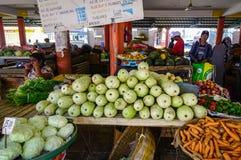 Αγροτική αγορά σε Mahebourg, Μαυρίκιος Στοκ Εικόνες