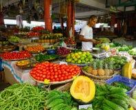 Αγροτική αγορά σε Mahebourg, Μαυρίκιος Στοκ Φωτογραφία