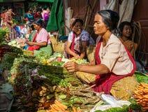 Αγροτική αγορά σε Yangon, το Μιανμάρ Στοκ Φωτογραφίες