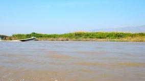 Αγροτική γη στη λίμνη Inle, το Μιανμάρ απόθεμα βίντεο