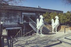 Αγροτική είσοδος packinghouse του Αναχάιμ στοκ εικόνες