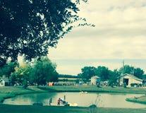 Αγροτική διασκέδαση κολοκύθας Στοκ φωτογραφία με δικαίωμα ελεύθερης χρήσης