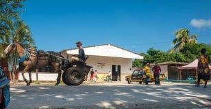 Αγροτική κουβανική σκηνή δήμων. Στοκ Εικόνες