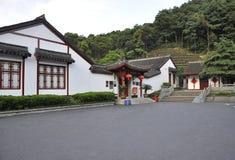 Αγροτική οικοδόμηση τσαγιού κοντά σε Hangzhou στοκ εικόνες