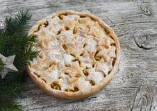 Αγροτική πίτα της Apple Στοκ φωτογραφία με δικαίωμα ελεύθερης χρήσης