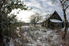 Αγροτική παλαιά καλύβα κατωφλιών Στοκ Εικόνες