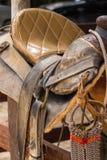 Αγροτική σέλα αλόγων στοκ εικόνες