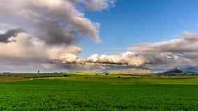 Αγροτική σκηνή καλλιέργειας στοκ εικόνα