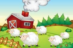 Αγροτική σκηνή ελεύθερη απεικόνιση δικαιώματος