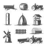 Αγροτική συλλογή Γραπτή απεικόνιση ελεύθερη απεικόνιση δικαιώματος