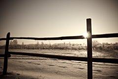 αγροτική φραγή Στοκ Φωτογραφίες