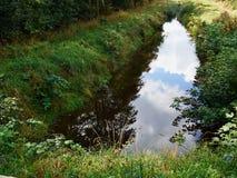 Αγροτική όμορφη σκηνή λιμνών νερού Στοκ Εικόνα