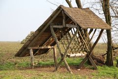 Αγροτική contry ξύλινη καμπίνα Στοκ φωτογραφία με δικαίωμα ελεύθερης χρήσης
