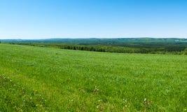 Αγροτικοί τομείς άνοιξη Στοκ φωτογραφία με δικαίωμα ελεύθερης χρήσης