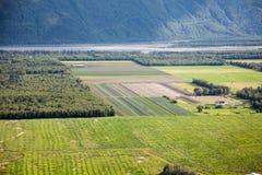 Αγροτικοί τομείς στην Αλάσκα στοκ φωτογραφίες