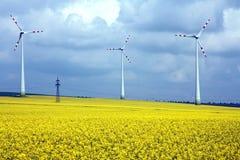 αγροτικός αέρας μύλων τοπίων πεδίων Στοκ Εικόνα