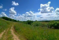 αγροτικός γαλήνιος τοπίων στοκ εικόνες