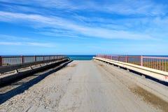 Αγροτικός δρόμος στη θάλασσα Στοκ Εικόνες