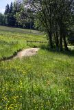 Αγροτικός δρόμος στο πολωνικό Tatras Στοκ Εικόνα