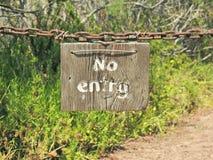 Αγροτικός κανένα σημάδι εισόδων Στοκ φωτογραφία με δικαίωμα ελεύθερης χρήσης