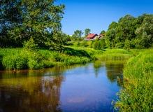 Αγροτικός ποταμός Στοκ φωτογραφία με δικαίωμα ελεύθερης χρήσης