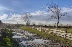 Αγροτικός δρόμος λάσπης στοκ εικόνες