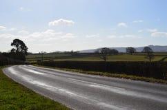 Αγροτικός δρόμος στην Αγγλία Στοκ Εικόνες