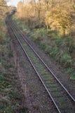 Αγροτικός σιδηρόδρομος μέσω της δασώδους περιοχής Στοκ φωτογραφία με δικαίωμα ελεύθερης χρήσης