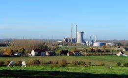 Αγροτικός σταθμός παραγωγής ηλεκτρικού ρεύματος. Στοκ Εικόνες