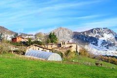 Αγροτικός τουρισμός στους βασκικούς τομείς χώρας, Ισπανία Στοκ Εικόνες
