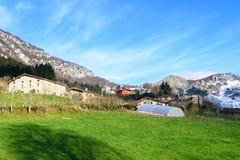 Αγροτικός τουρισμός στους βασκικούς τομείς χώρας, Ισπανία Στοκ εικόνες με δικαίωμα ελεύθερης χρήσης