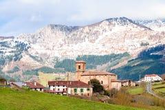 Αγροτικός τουρισμός στους βασκικούς τομείς χώρας, Ισπανία Στοκ Εικόνα