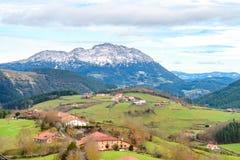 Αγροτικός τουρισμός στους βασκικούς τομείς χώρας, Ισπανία Στοκ Φωτογραφίες