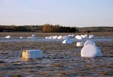 αγροτικός χειμώνας ποταμ Στοκ Εικόνες