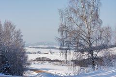 αγροτικός χειμώνας τοπίω&nu Στοκ Φωτογραφίες