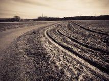 Αγροτικό έδαφος γεωργίας Στοκ φωτογραφία με δικαίωμα ελεύθερης χρήσης