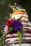 Αγροτικό γυμνό ` γαμήλιο κέικ ` Στοκ φωτογραφίες με δικαίωμα ελεύθερης χρήσης