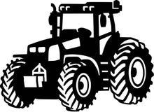 Αγροτικό διάνυσμα τρακτέρ διανυσματική απεικόνιση