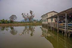 Αγροτικό εστιατόριο καλλιέργειας ψαριών στοκ φωτογραφίες με δικαίωμα ελεύθερης χρήσης