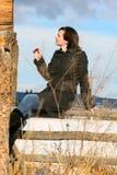 Αγροτικό θηλυκό στοκ φωτογραφία