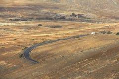 Αγροτικό και ξηρό τοπίο Fuerteventura στοκ φωτογραφία με δικαίωμα ελεύθερης χρήσης
