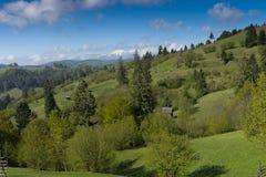 Αγροτικό Καρπάθιο τοπίο Ρουμανία Στοκ φωτογραφία με δικαίωμα ελεύθερης χρήσης