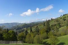 Αγροτικό Καρπάθιο τοπίο Ρουμανία Στοκ Εικόνες
