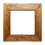 Αγροτικό ξύλινο πλαίσιο που απομονώνεται στο λευκό Στοκ εικόνα με δικαίωμα ελεύθερης χρήσης