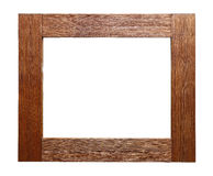 Αγροτικό ξύλινο πλαίσιο που απομονώνεται στο λευκό Στοκ φωτογραφίες με δικαίωμα ελεύθερης χρήσης