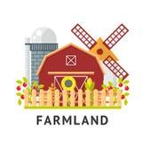 Αγροτικό οριζόντια διανυσματικό σύνολο Στοκ φωτογραφία με δικαίωμα ελεύθερης χρήσης