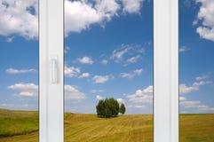 αγροτικό παράθυρο όψης το Στοκ Εικόνες